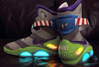 Nike Air Mag Toy Story Buzz Light Year Custom Sneaker (Detail Images)