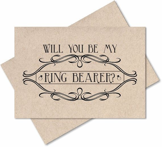 Will you be our ring bearer card groomsman by GreetingCardsShop