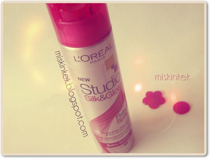 Saç Spreyi : L'Oreal Paris Silk & Gloss Fixing Spray - ece targıt,bebek saçları sabitlemek için