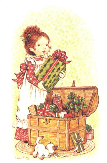 Holly Hobbie, trunk of Christmas gifts