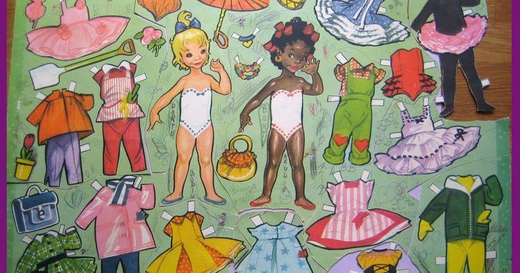 Med disse to skønne dukker, tegnet af Dorte Kortzau - indleder jeg min lille kavalkade af dukker med anden etnisk baggrund En brun og en...