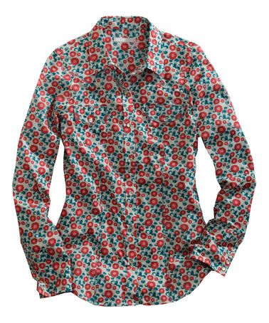 This Red & Teal Floral Button-Up - Women by Tin Haul is perfect! #zulilyfinds