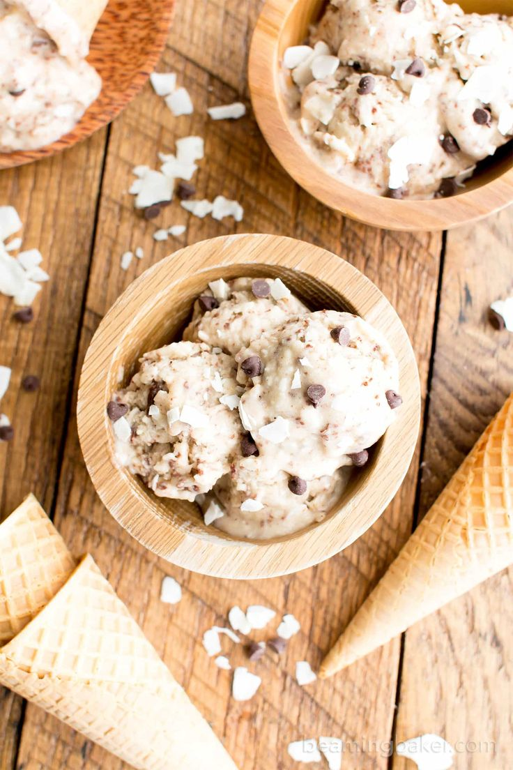 Coconut Chocolate Chip Vegan Ice Cream (Paleo, V, GF, Dairy-Free) - Beaming Baker