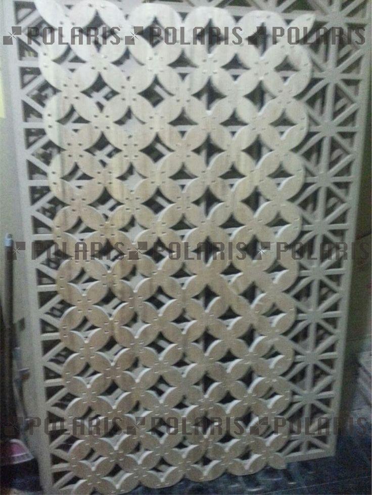 POLARIS Laser Cutting dan CNC Surabaya: partisi interior / panel decorative kayu, MDF, WPC...