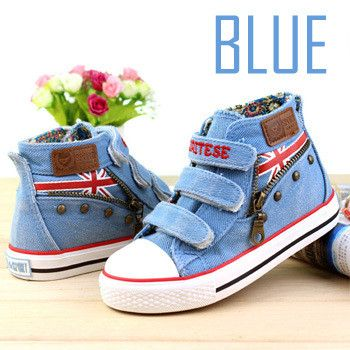 New 2016 Fashion Children Shoes Denim Jeans Hook Loop Children Sneakers For Boys Girls Shoes Canvas Fabric Kids Shoes Chaussure