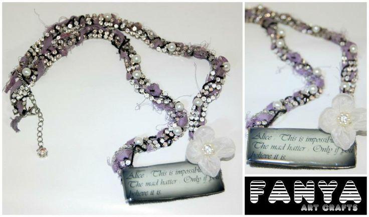 """Statement necklace """"Alice in Wonderland"""""""