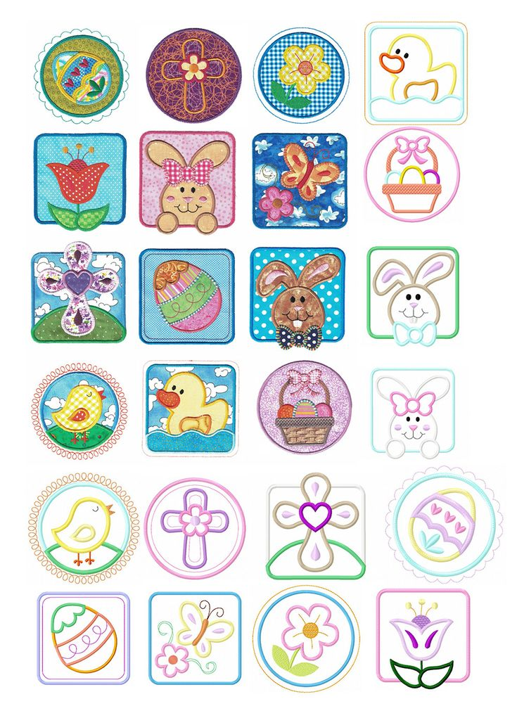 Easter Patches Applique