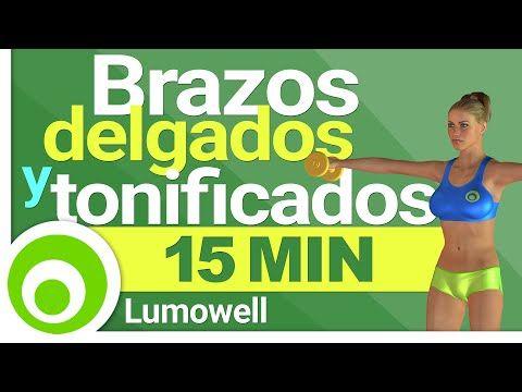 Brazos Delgados y Tonificados en 15 Minutos - Ejercicios con Mancuernas en Casa - YouTube