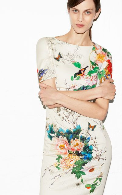 Really wanted this to be my graduation dress, but it was sold out everywhere.  PRINTED DRESS from Zara.