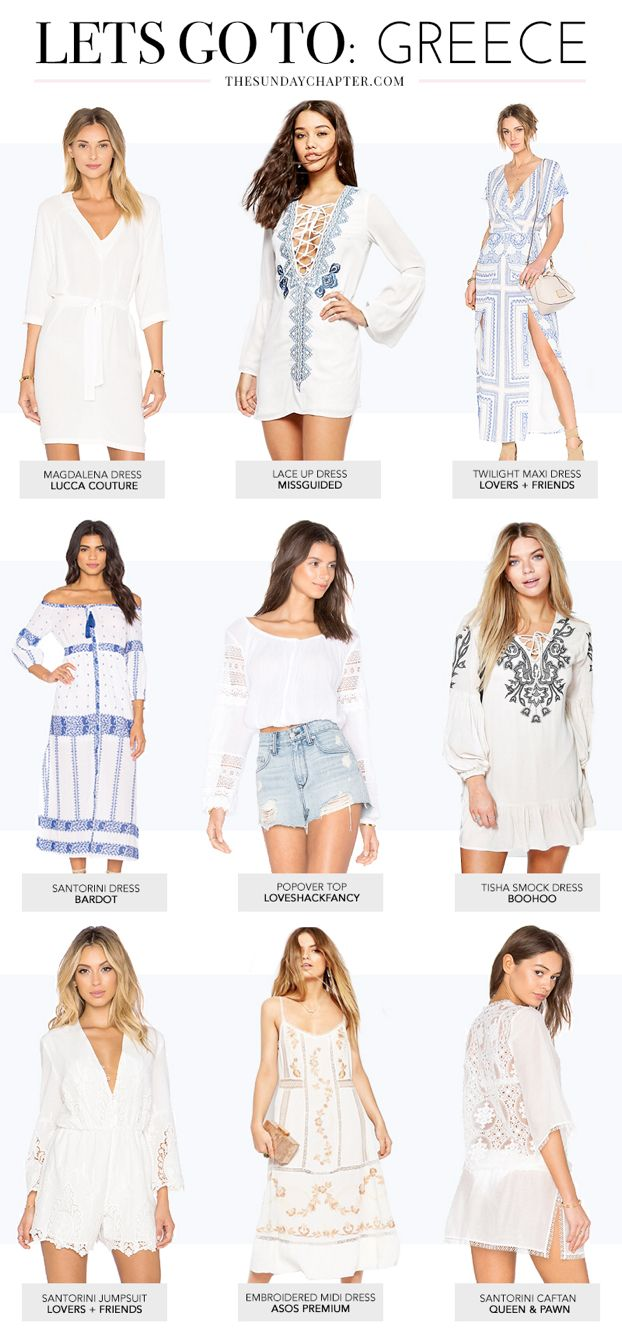 Island style: what to wear in Greece - Santorini inspired outfits