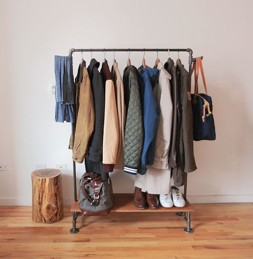 No Closet? If Youu0027re Scratching Your Head Over Where To Put Clothes In Your  Bedroom (or Where To Hang Coats In A Foyer), Consider One Of These DIY  Clothing ...