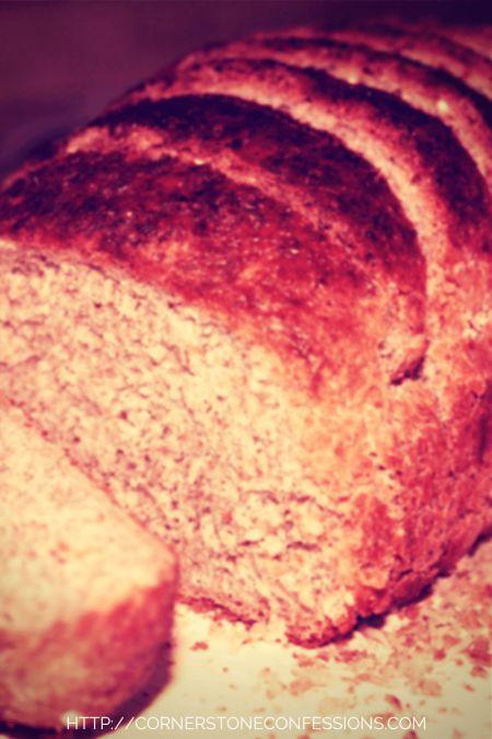 Whole Wheat Honey Oatmeal #Bread #recipe