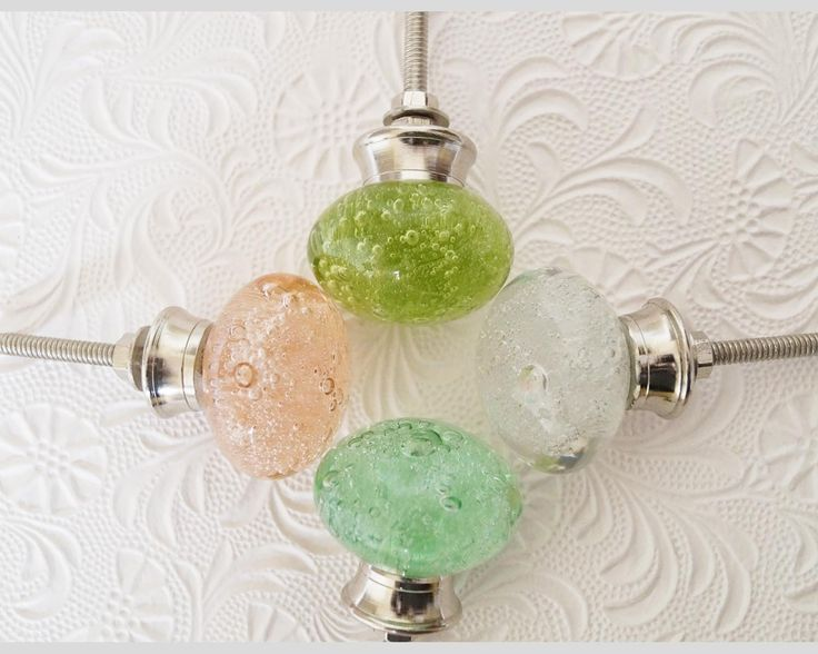Bubble Glass Knobs