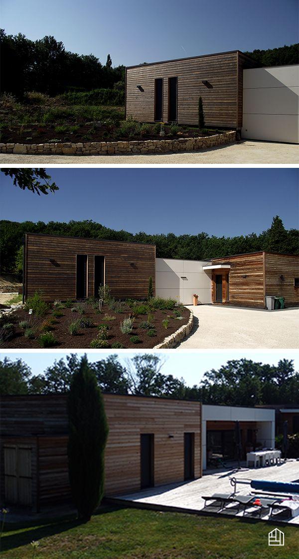 Bardage mélèze de Sibérie naturel pour cette splendide villa de 290 m² en Drôme provençale #bardagebois #ecohouse