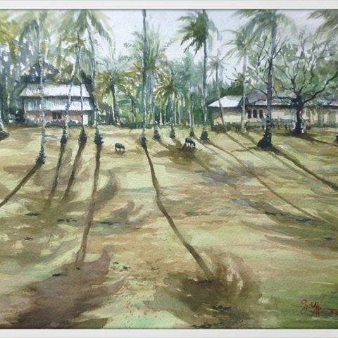 Title : Kg. Sepat, Kuantan Medium : Watercolor on paper Size : 29 x 42cm #watercolor #watercolour #waterblog #watercolour_gallery #stcuthbertsmill #escodabrushes #art #art_spotlight #artistsoninstagram #artdaily #arthelp #artwork #kampunghouse