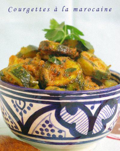 Courgette à la marocaine