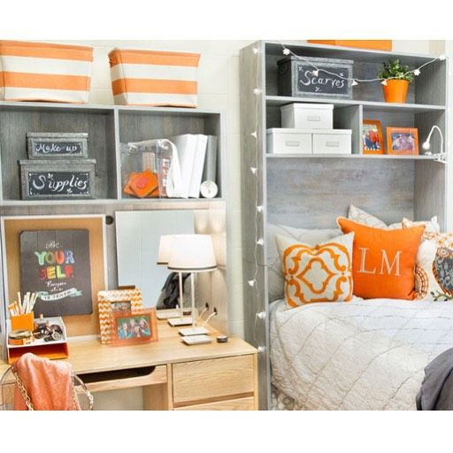 Matching Bed & Desk Cubby! Available in restoration wood  ~ 071408_Camo Dorm Room Ideas