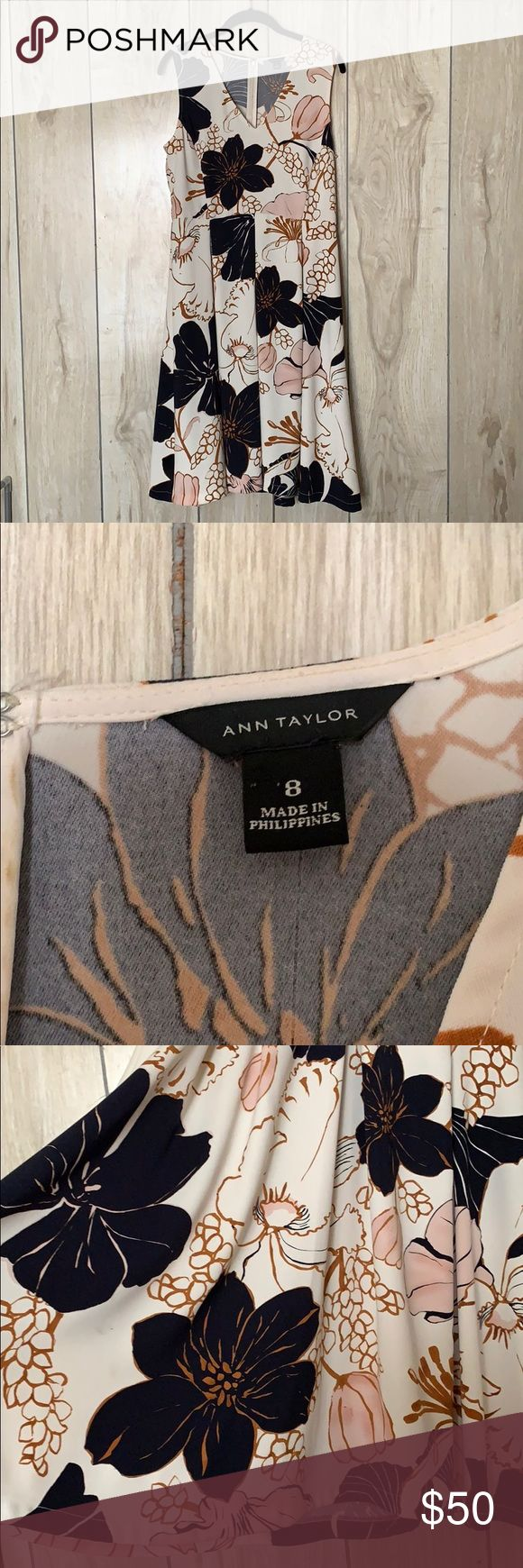 Ann Taylor Dress Beautifully patterned Ann Taylor dress! Perfect spring/summer d…