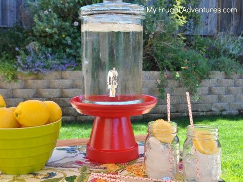 DIY Drink Dispenser Stand {Pottery Barn Knock Off ...