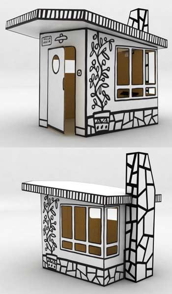 Javier Mariscal | Villa Julia cardboard play house