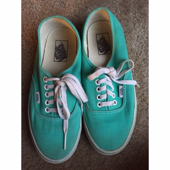 Teal vans Only worn a couple times, in great condition! Nothings wrong with them, just to small for me always happy to negotiate and bundle! ✨ No Trades please!! Vans Shoes