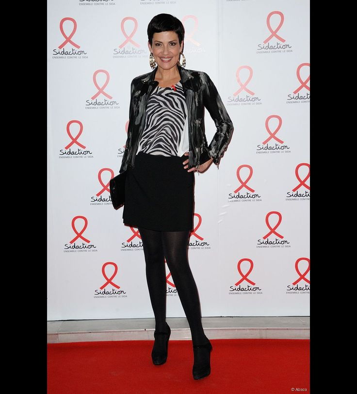 Cristina Cordula était présente lors de la soirée pour le Sidaction à Paris, le 11 mars 2013.