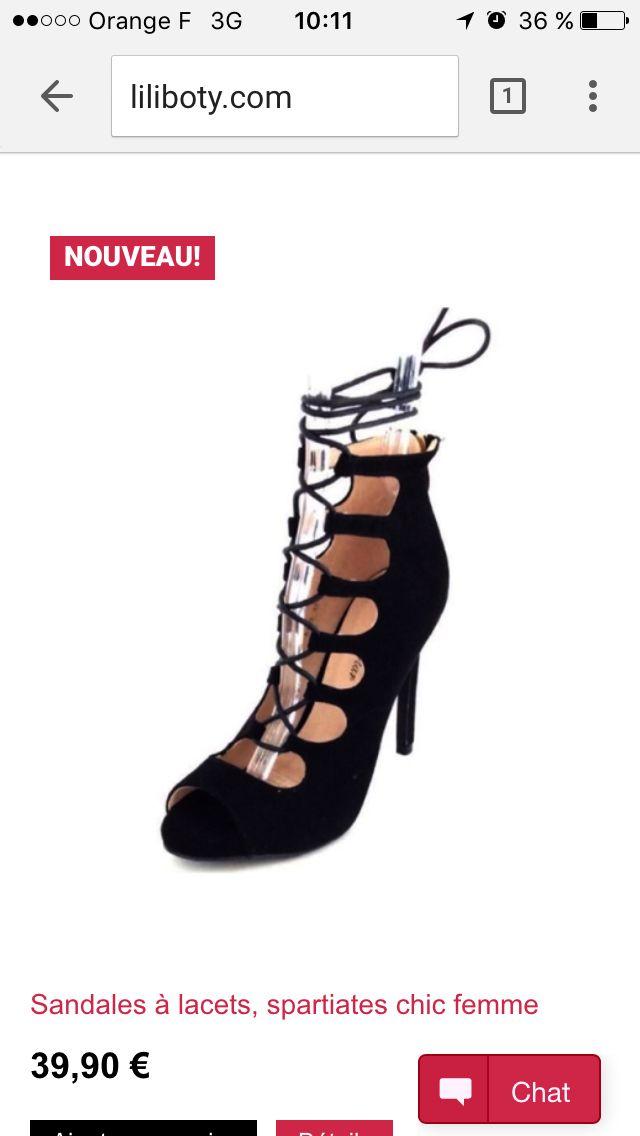 Tendance du moment les sandales à lacets glamour ! À petit prix dispo du 36 au 41 sur Liliboty.com