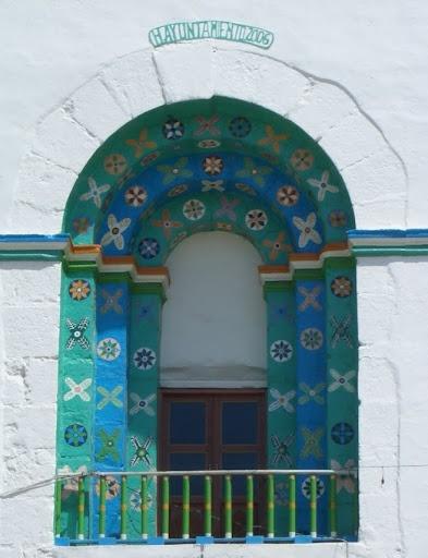 Window at San Juan Chamula, a Mayan place of worship near San Cristobal, Mexico.