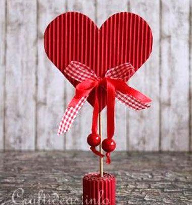 ❤ Valentin napi szívecskés dekoráció hullámkartonból ❤Mindy -  kreatív ötletek és dekorációk minden napra