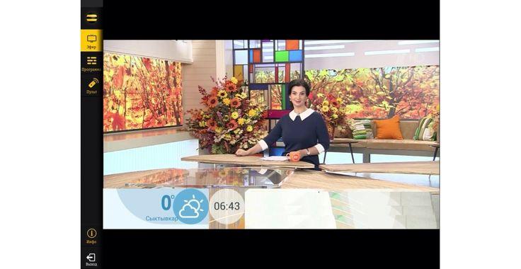 """Екатерина Стриженова в программе """"Доброе утро"""" в платье by Olga Skazkina."""