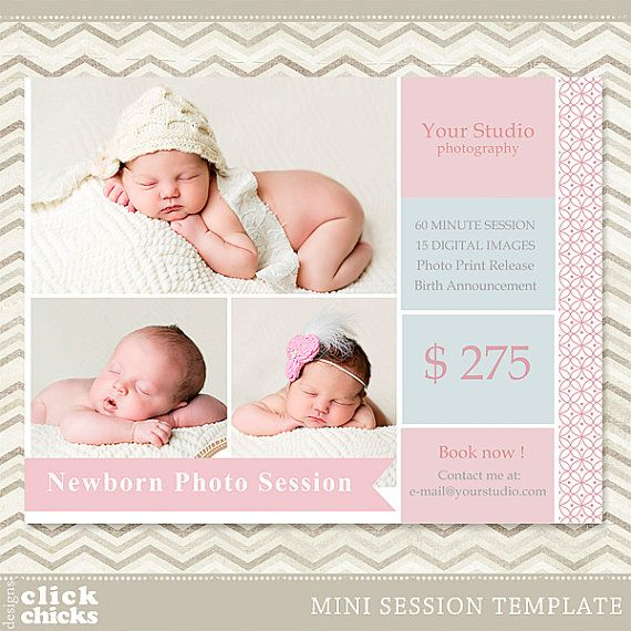 Mini session photography marketing template by clickchicksdesigns 8 00