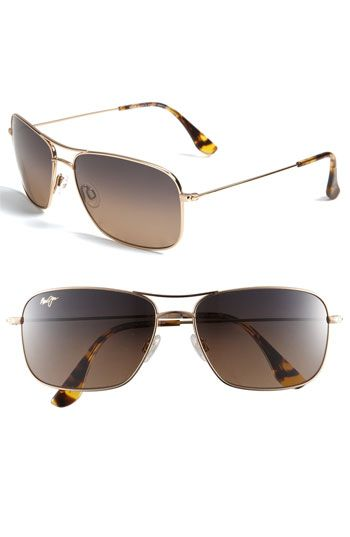 Maui Jim 'Wiki Wiki - PolarizedPlus®' Aviator 59mm Sunglasses available at #Nordstrom