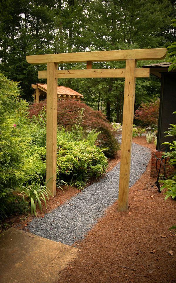 Japan garden wood bridge and gate google keres s japan - Jardines japoneses zen ...