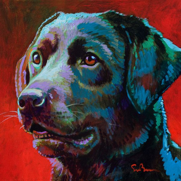 $450 black lab art