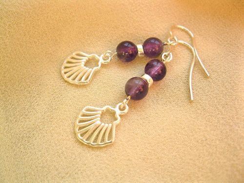 Camino Finisterre earrings ~ amethyst + silver, £38.87