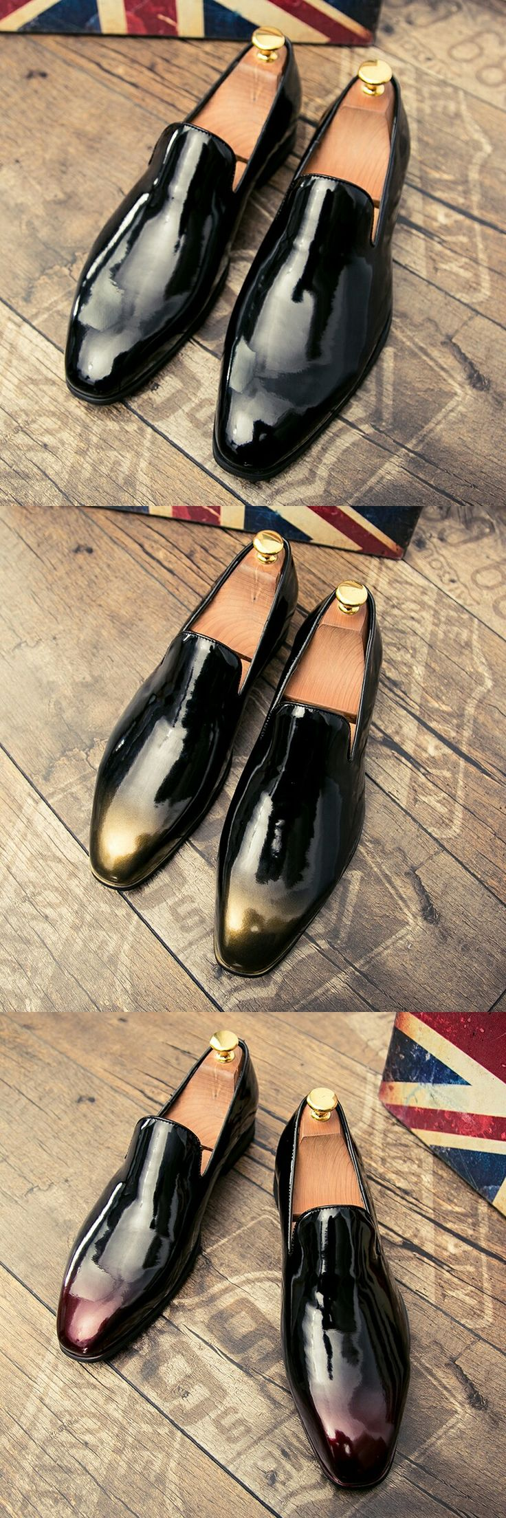 $26.48 <Click to buy> Men Dress Shoe Shadow Patent Leather Oxford