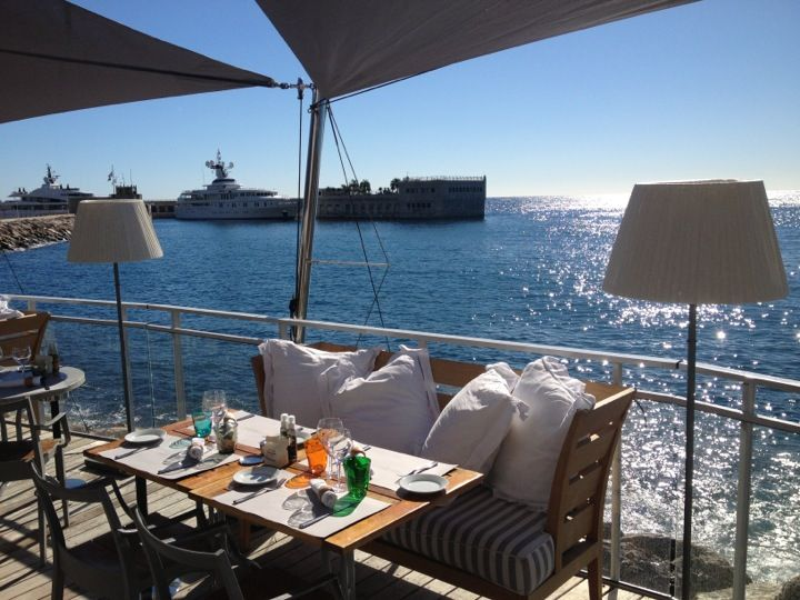 Start your trip at A'Trego restaurant at Cap d'Ail, on the sea border between France and Monaco, styled by Philippe Starck. #monaco #restaurant #starck #citytrip #travel #guide