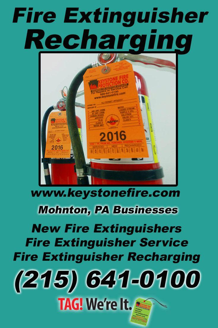 Fire Extinguisher Recharging Mohnton, PA (215) 6410100We