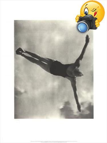 Leni Riefenstahl- #Gold Winner in the Men's High Diving: Hand numbered out of 250 in pencil. Not signed.