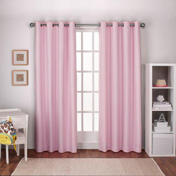 Exclusive Home Kids Textured Linen Thermal Window Curtain Pair - EK5320-01 2-108G