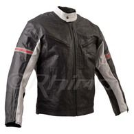 Leather Motorcycle Jacket with Vents and Removable Armour - MISANO