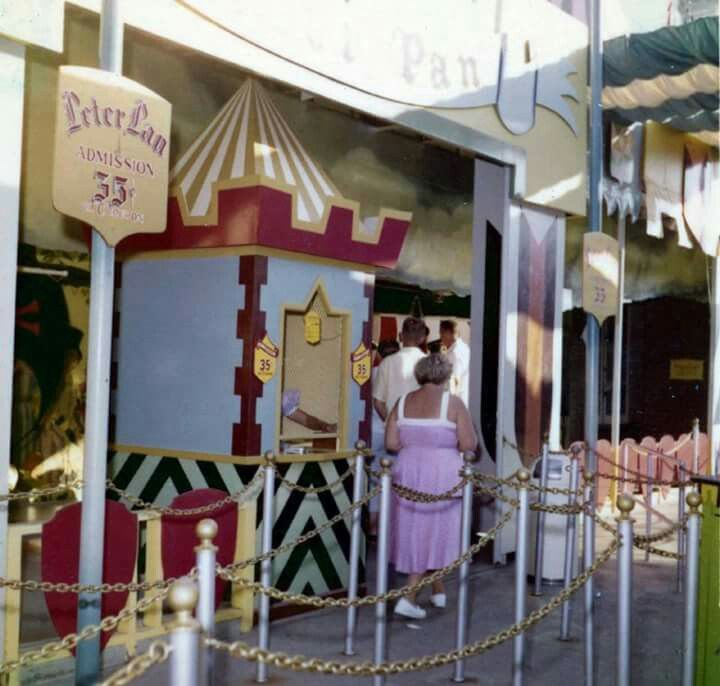 The Peter Pan ticket booth/entrance in old Fantasyland.