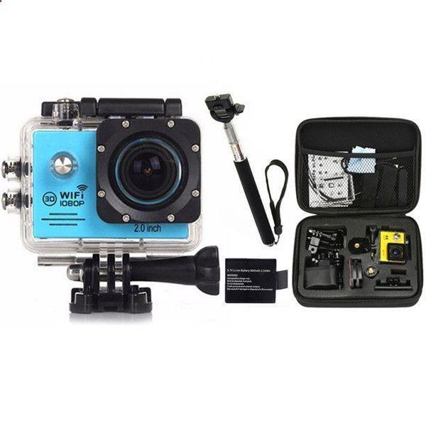 gopro hero 4 style Action Camera 1080P WiFi go pro Sport camera extreme Diving Helmet Waterproof mini Cam monopod bag 7000