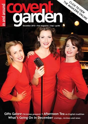 Vintage singing trio The Haywood Sisters. Here on the cover of In and Around Covent Garden Magazine Dec '13
