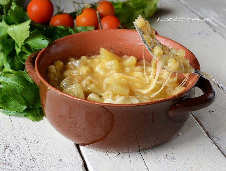 Pasta e patate con provola,un primo semplice,povero ma molto saporito