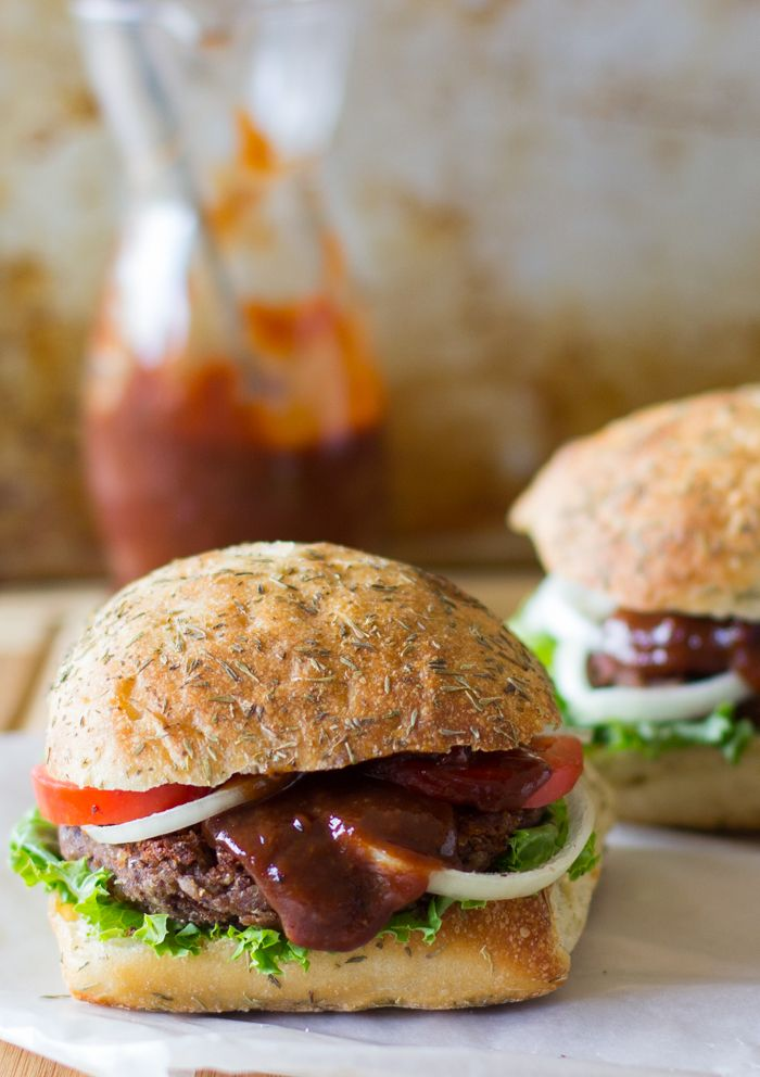 These Vegan and Gluten Free Black Bean and Quinoa Burgers with Strawberry BBQ Sauce will transform the way you see veggie burgers...they are loaded with flavour, texture and are so filling! #vegan #glutenfree