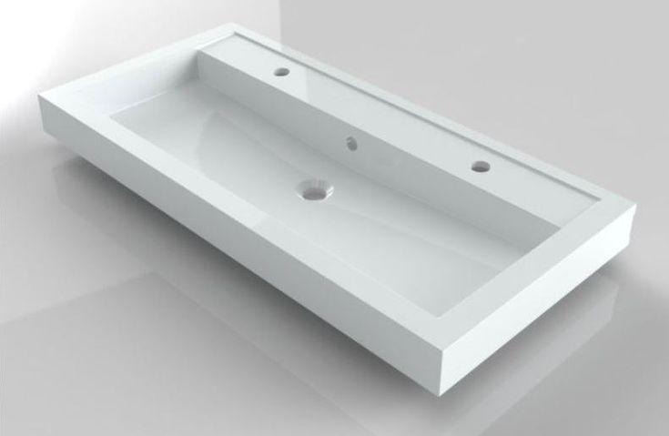 Umywalka naszafkowa 100x48 cm z 2 otworami na baterię Riho Bologna F7BO110048121 wyposażenie łazienek www.kaczucha.pl