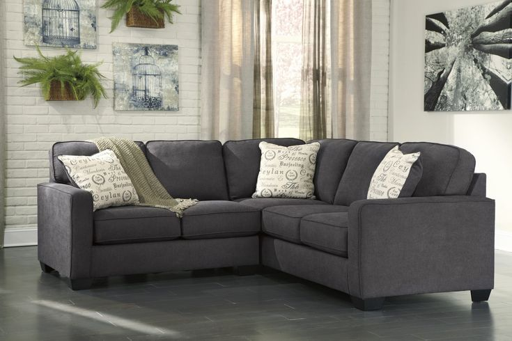 Lovely 2 Piece Sectional sofa Pics alenya charcoal 2 piece sectional sofa for 625 00 furnitureusa