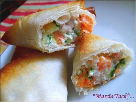 Bricks de légumes au cumin et petit suisse - Recette - Marcia 'Tack
