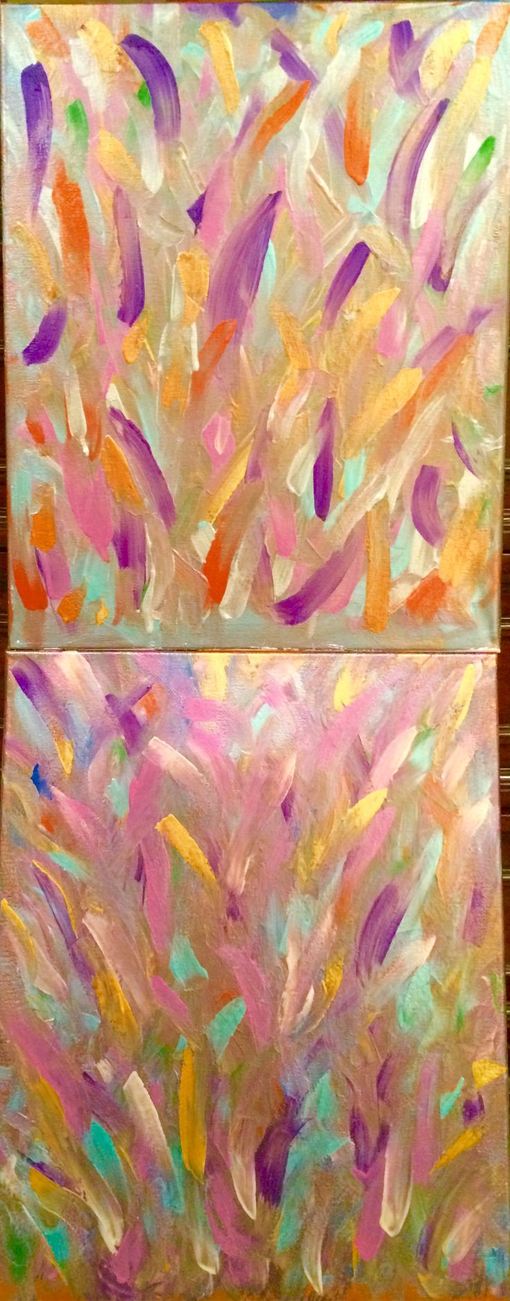 """(11"""" x 14"""" X 1/2"""") Metallic Acrylic Spray Paint with Melted Crayons •• SOLD ••"""